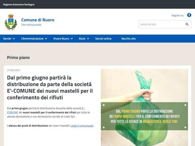 Nuovo portale istituzionale